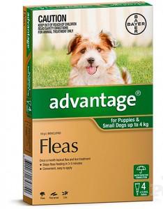 advantage капли от блох для щенков