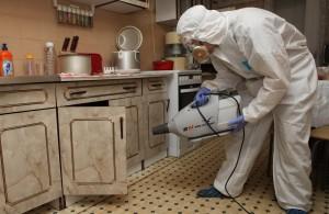 обработка горячим туманом на кухне