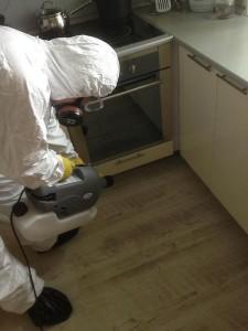 травля тараканов на кухне