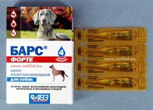 инсектоакарицидные капли от блох для собак барс